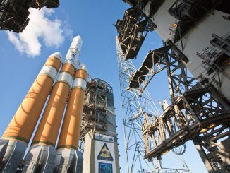 File photo of Delta 4-Heavy rocket for the NRO. Credit: ULA