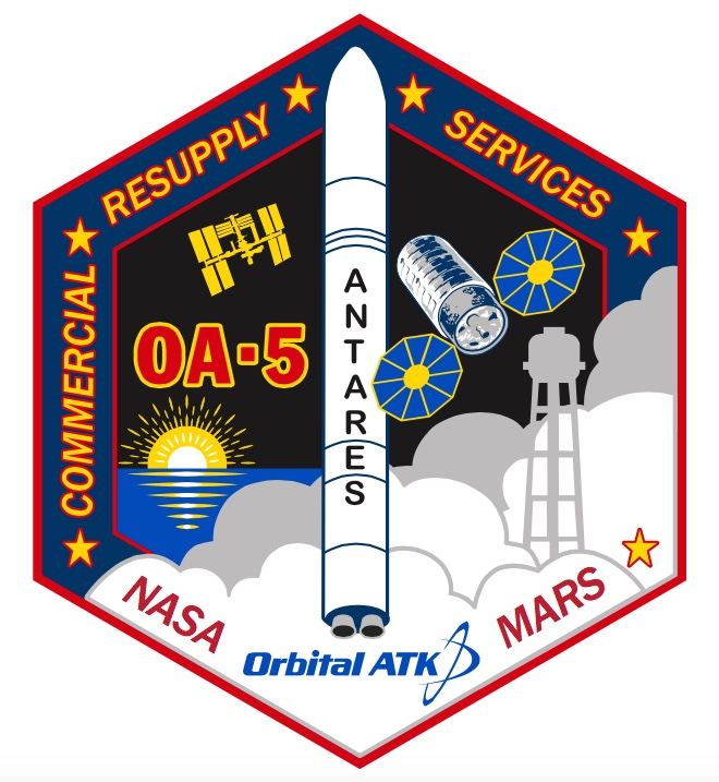 Orbital ATK's patch for the OA-5 mission. Credit: Orbital ATK