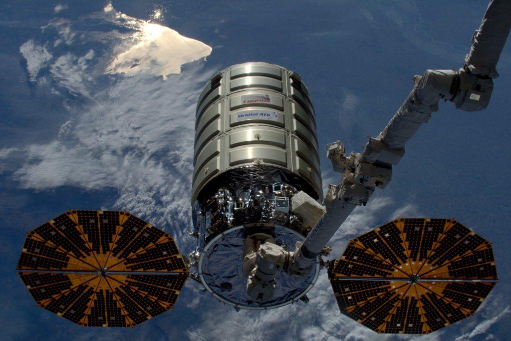 A picture of Cygnus taken this morning. Credit: Astronaut Tim Peake