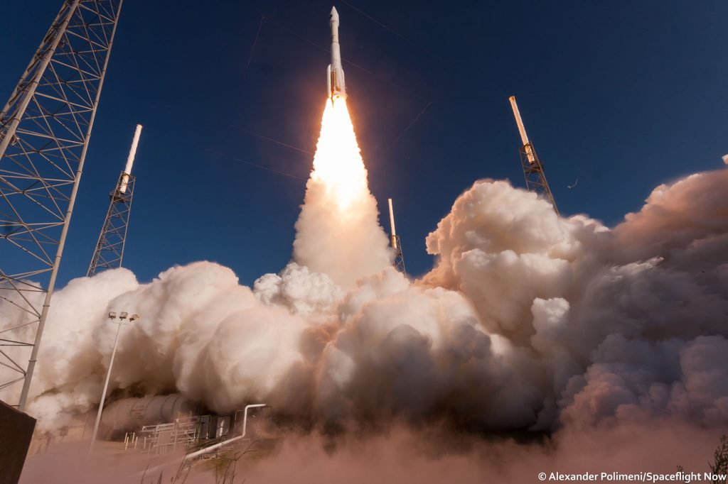 The Atlas 5 rocket lifts off with NROL-61. Credit: Alex Polimeni/Spaceflight Now