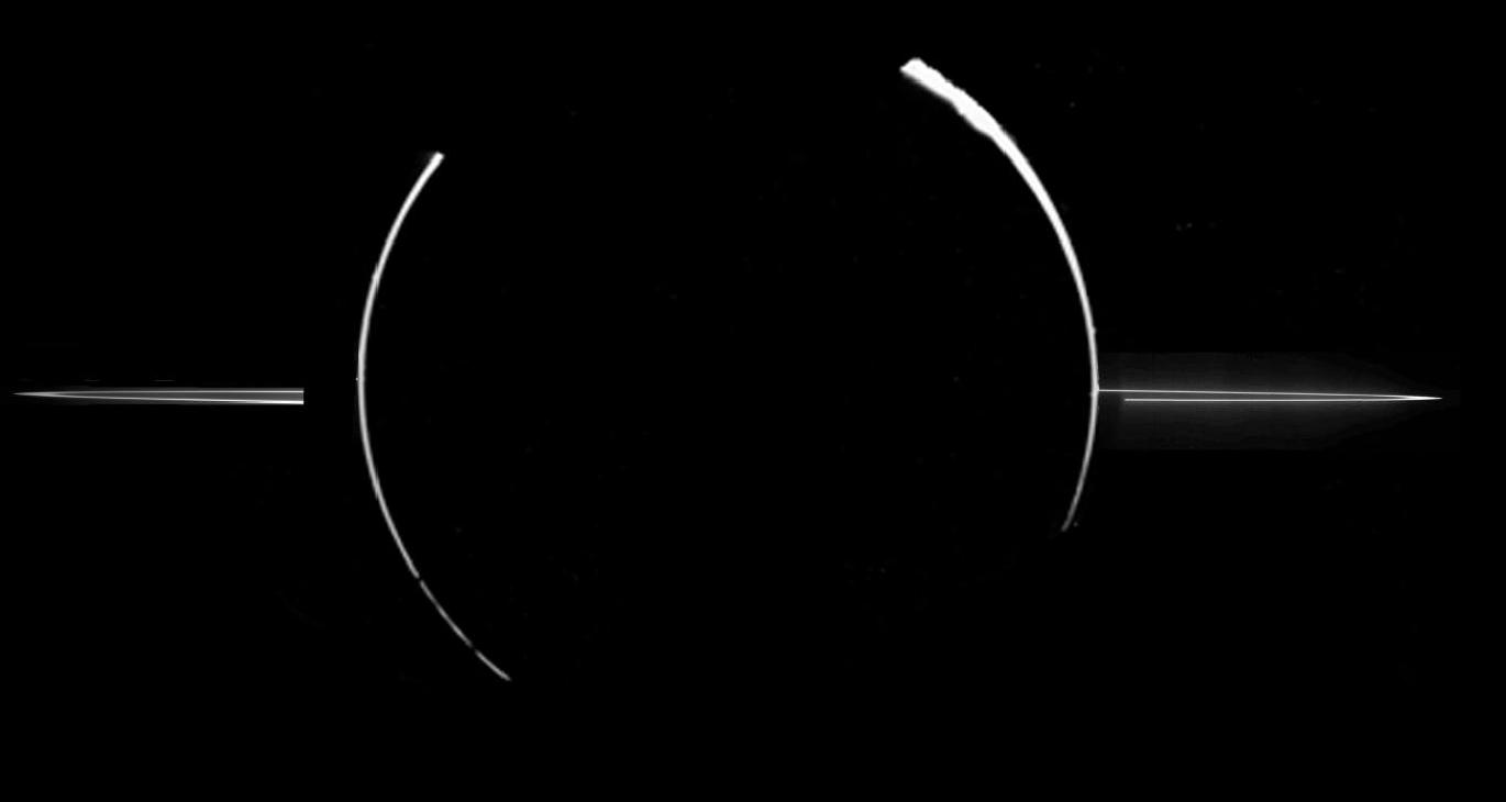 This image of Jupiter's rings came from NASA's Galileo mission, which became the first spacecraft to orbit the planet. Galileo explored Jupiter and its moons from 1995 through 2003. Credit: NASA, JPL, Galileo Project, (NOAO), J. Burns (Cornell) et al.