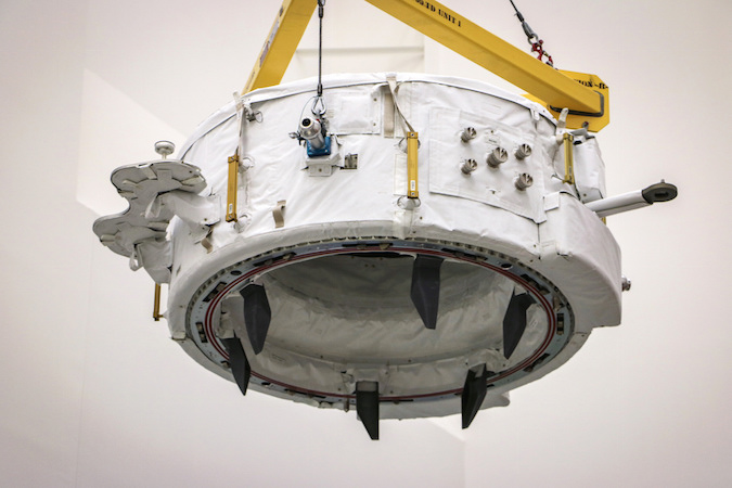 International Docking Adapter-2 was installed into the Dragon spacecraft's trunk section May 19. Credit: SpaceX