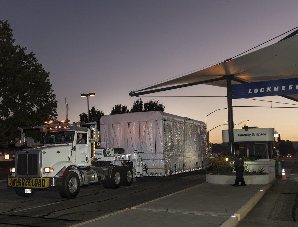 WorldView 4 leaves Sunnyvale. Credit: Lockheed Martin