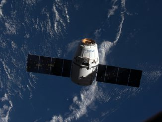 A Dragon spacecraft loaded with nearly 5,000 pounds of cargo arrived at the International Space Station on Wednesday. Credit: NASA/Jeff Williams