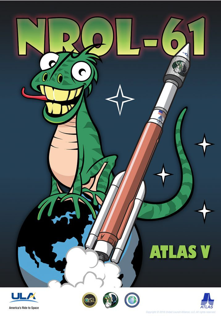 The NROL-61 poster. Credit: United Launch Alliance