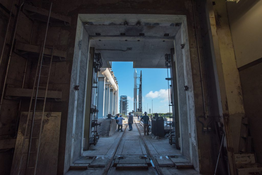 File photo of Atlas 5-421 rollout. Credit: ULA
