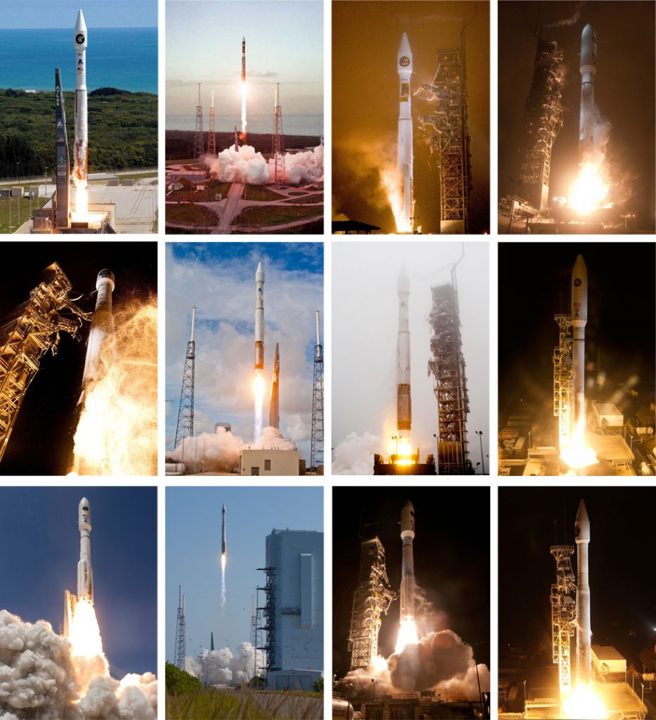 Atlas 5 has performed a dozen NRO launches to date. Photos by ULA