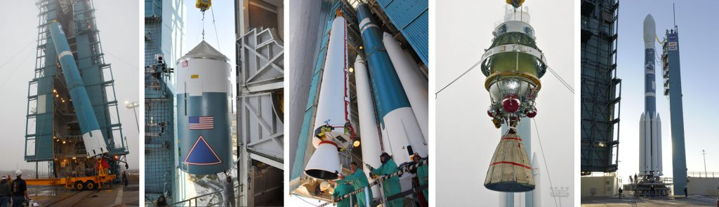 The step-by-step Delta 2 assembly process. Photos by NASA