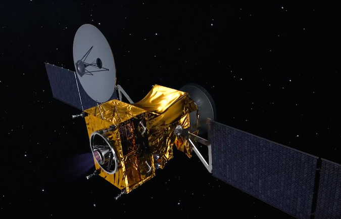 Artist's concept of the ExoMars Trace Gas Orbiter. Credit: Thales Alenia Space