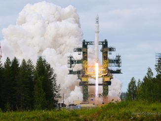 File photo of the first test launch of the Angara 1.2 rocket in July 2014. Credit: Russian Ministry of Defense
