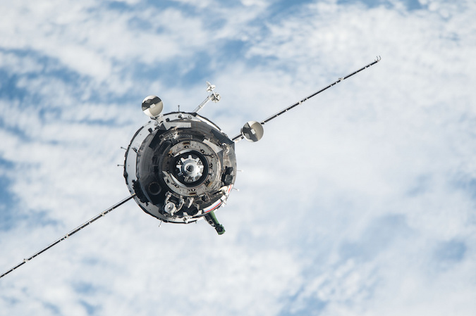The Soyuz TMA-20M spaceship arrived at the space station March 19 with two Russian cosmonauts and a U.S. astronaut. Credit: NASA