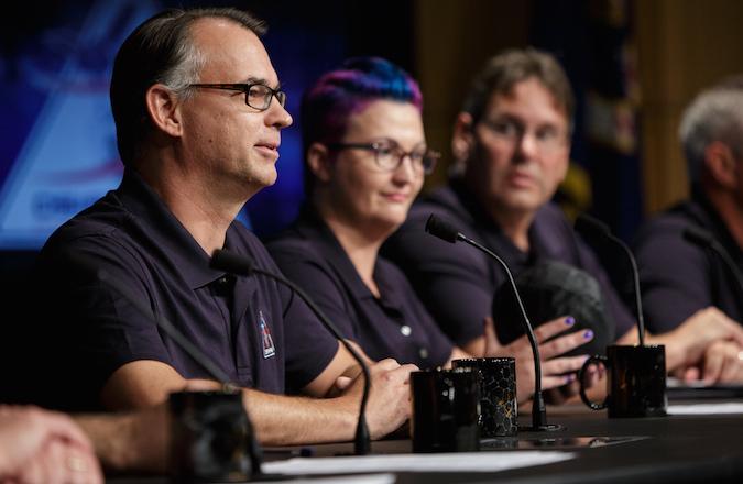 Dante Lauretta, OSIRIS-REx principal investigator from the University of Arizona. Credit: NASA/Joel Kowsky