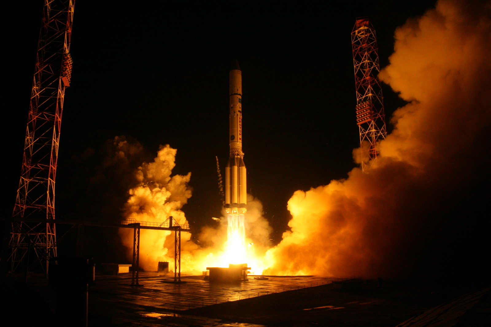 File photo of a Proton rocket launching from the Baikonur Cosmodrome on Dec. 24, 2015. Credit: Roscosmos