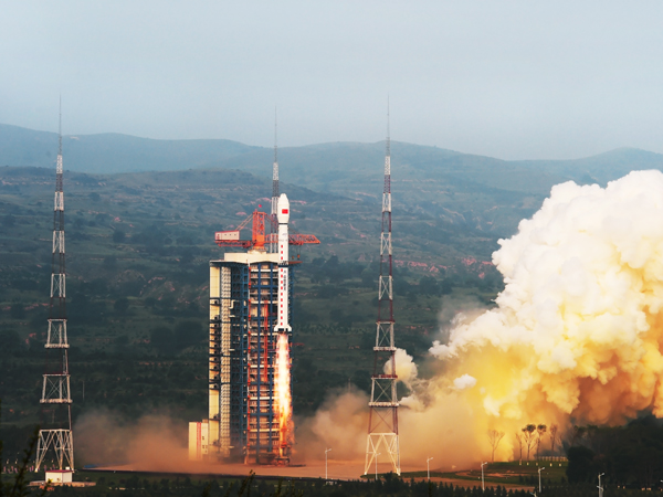 A Long March 4C rocket lifted off at 2255 GMT (6:55 p.m. EDT) Tuesday with the Gaofen 3 satellite. Credit: SASTIND