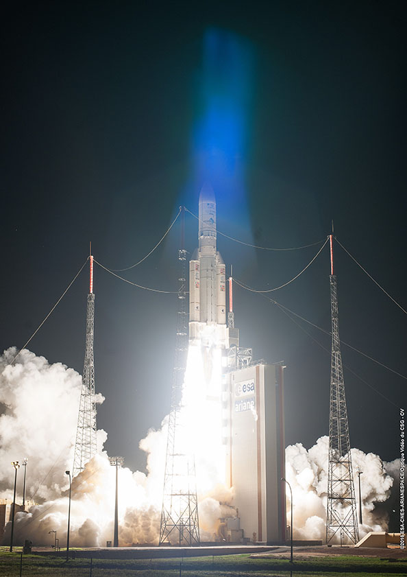 Photo credit: ESA/CNES/Arianespace – Photo Optique Video du CSG - OV