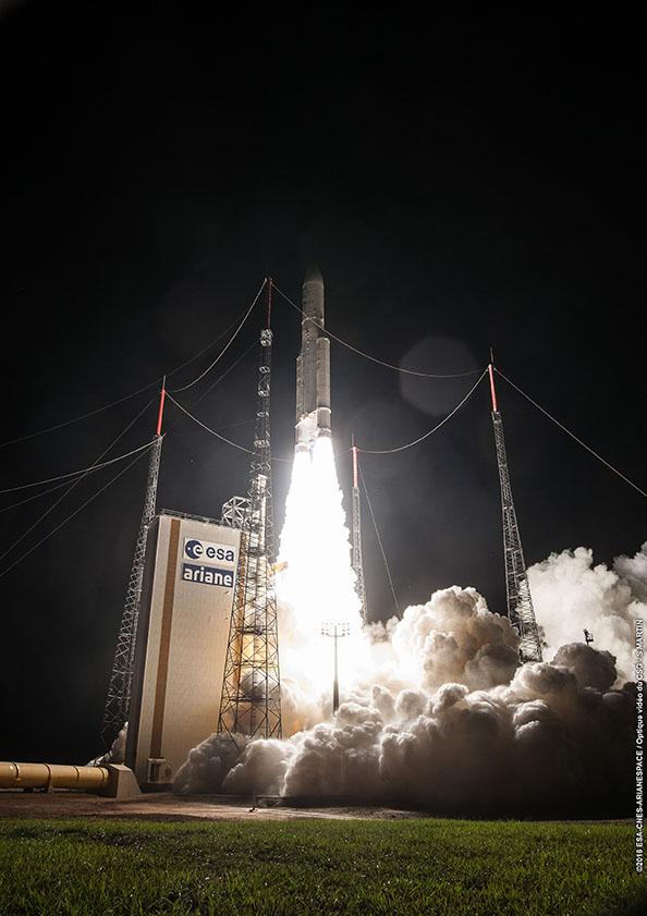 Photo credit: ESA/CNES/Arianespace – Photo Optique Video du CSG - S. Martin