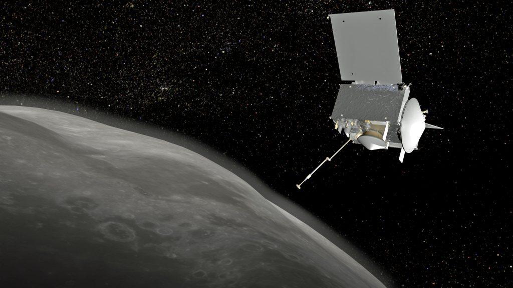 An artist's concept of OSIRIS-REx reaching out to Bennu. Credit: NASA