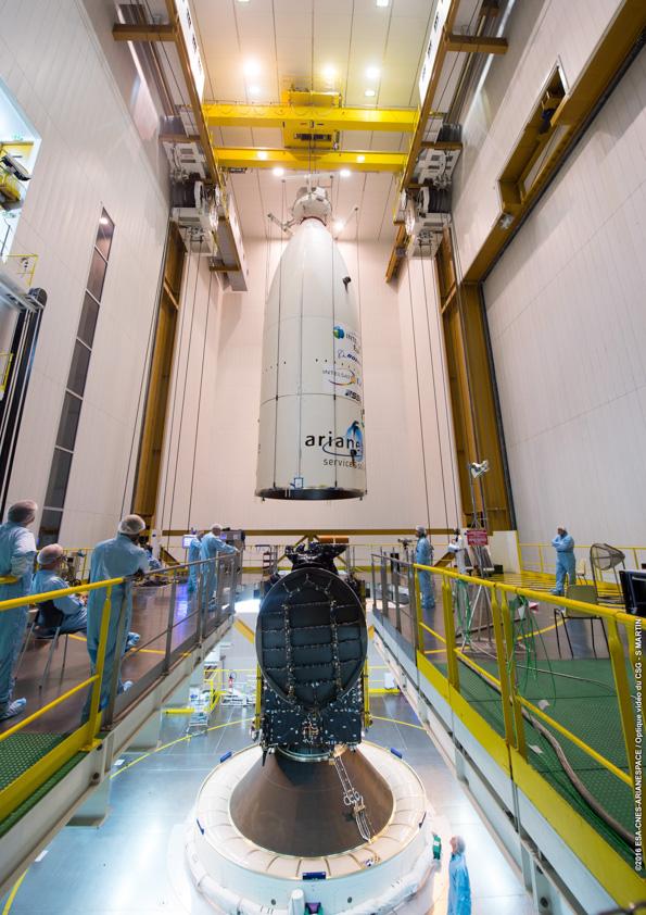 Credit: ESA/CNES/Arianespace – Photo Optique Video du CSG – S. Martin