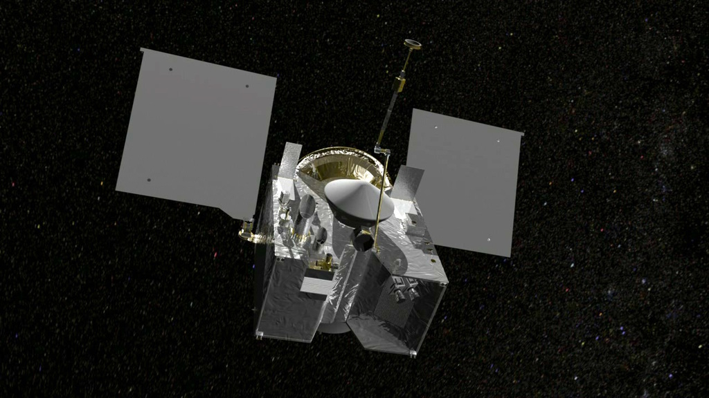 Artist's concept of the OSIRIS-REx spacecraft with the TAGSAM sampling arm deployed. Credit: NASA