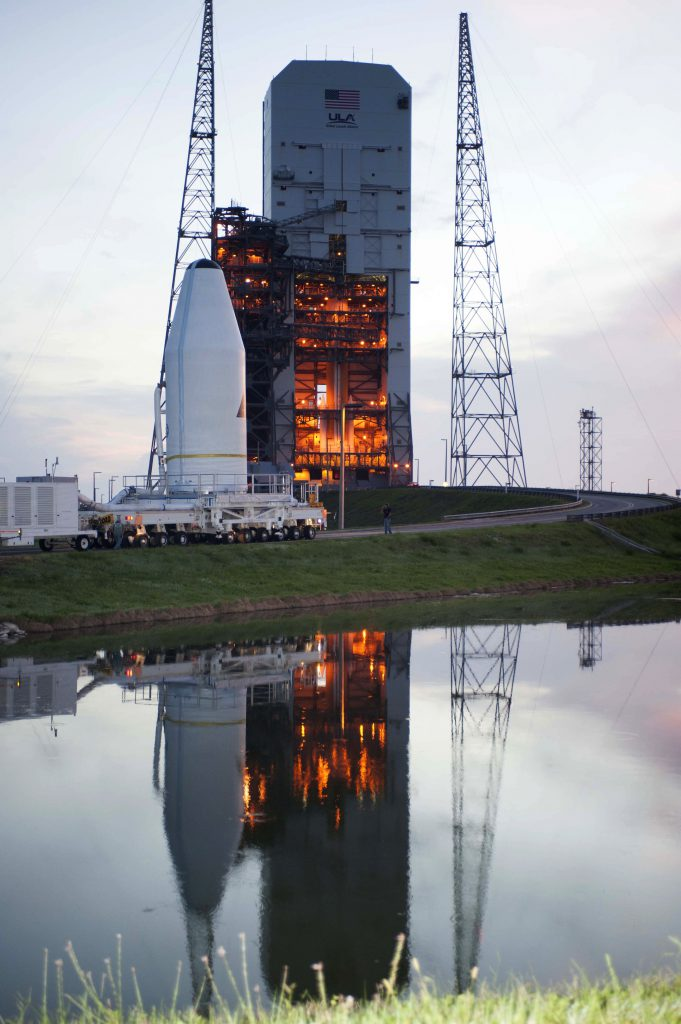 File photo of first GSSAP payload delivery to pad in 2014. Credit: ULA