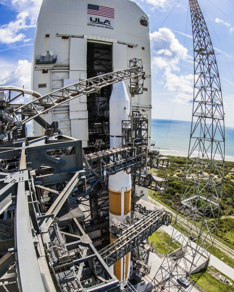 File photo of the Delta 4 poised for first GSSAP launch in 2014. Credit: ULA