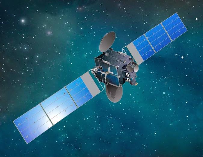 Artist's concept of the JCSAT 16 satellite once it unfurls solar arrays. Credit: Space Systems/Loral