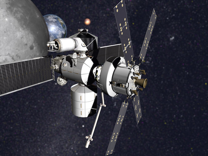 Artist's concept of a Lockheed Martin-built habitation system with the Orion capsule. Credit: Lockheed Martin