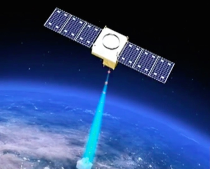This illustration of the Quantum Science Satellite was captured from a video report by China's CCTV state-run news channel. Credit: CCTV