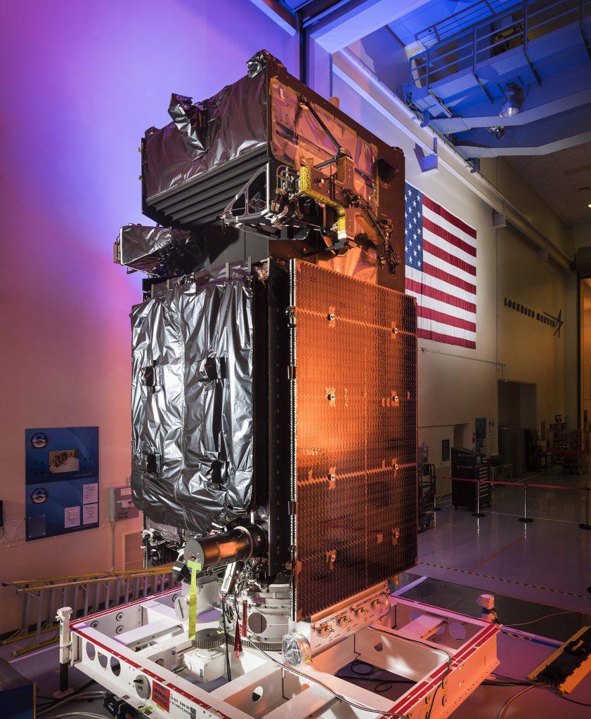 SBIRS GEO Flight 3 in the factory before shipment. Credit: Lockheed Martin