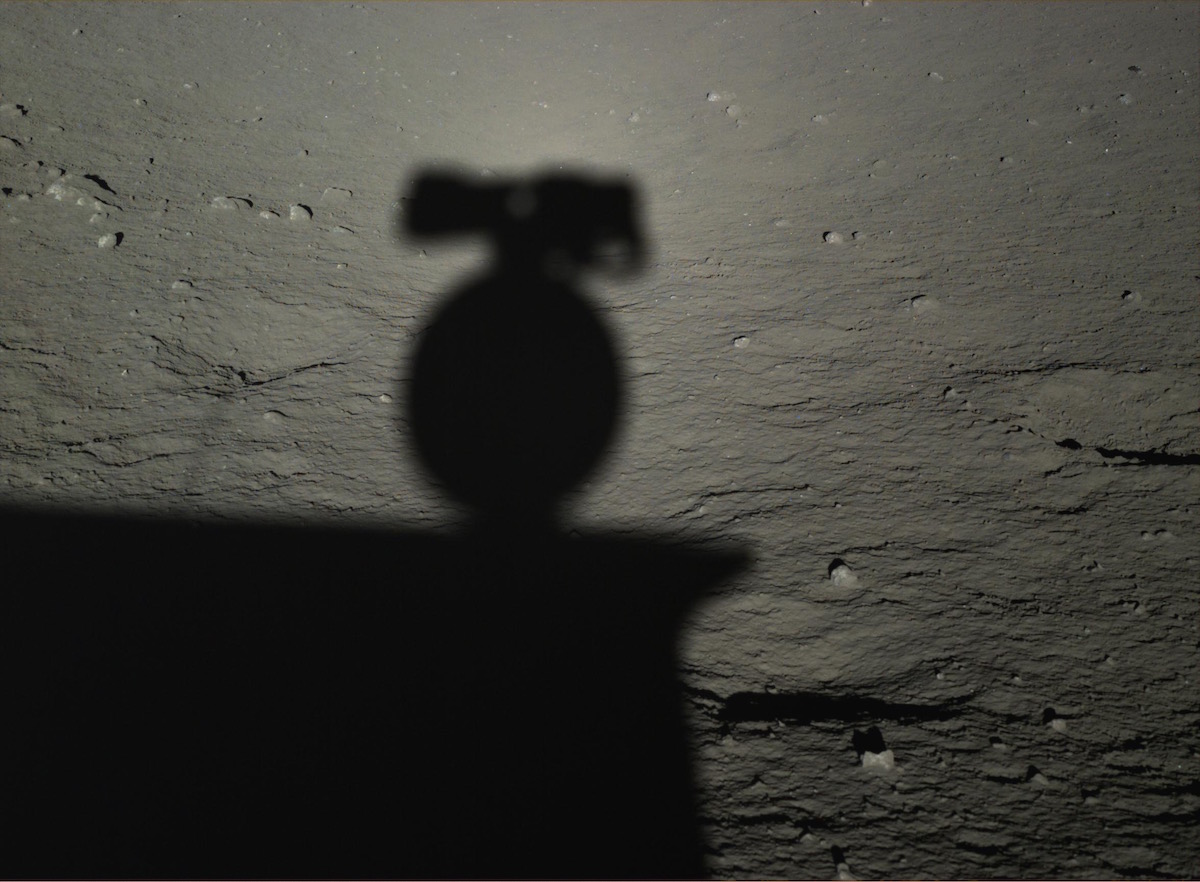 Shadow self-portrait from the panoramic camera on the Yutu rover. Credit: Chinese Academy of Sciences/NAOCScience and Application Center for Moon and Deepspace Exploration