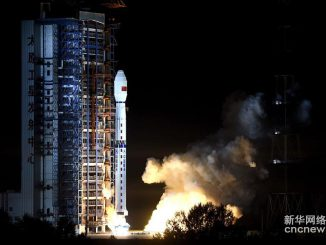 A Long March 4C rocket lifted off at 1855 GMT (2:55 p.m. EDT) Wednesday with the Gaofen 10 Earth observation satellite. Credit: Xinhua