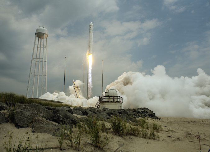 File photo of a previous Antares launch. Credit: Orbital ATK