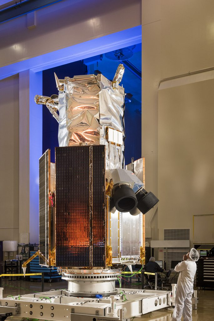 The WorldView 4 satellite. Credit: Lockheed Martin
