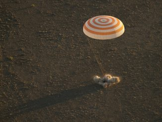 The Soyuz TMA-19M spacecraft touched down in Kazakhstan at 9:13 p.m. EDT Tuesday (0113 GMT Wednesday). Credit: NASA/Bill Ingalls