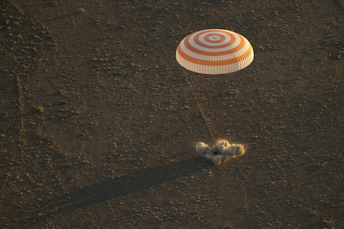 Russian spacecraft with 3 cosmonauts onboard lands in Kazakhstan