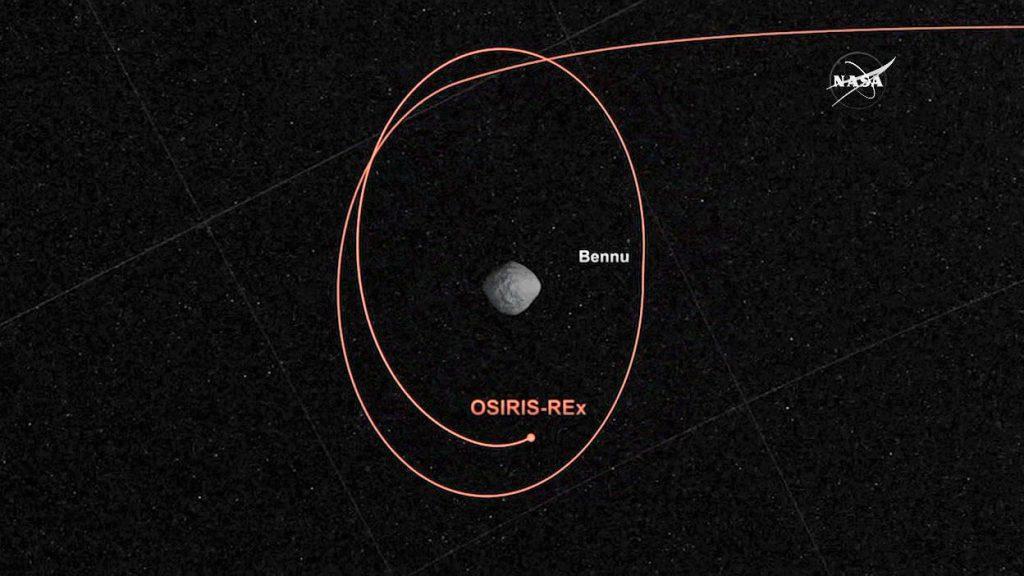 An artist's concept of OSIRIS-REx going into orbit around Bennu. Credit: NASA