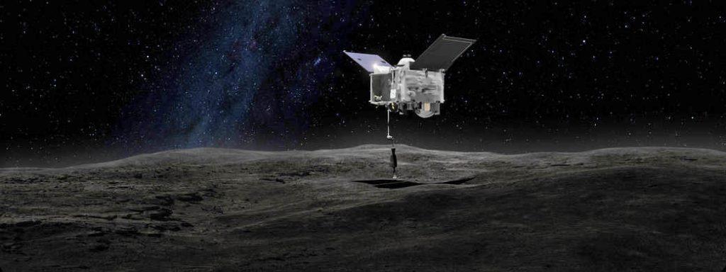 An artist's concept of the OSIRIS-REx arm. Credit: NASA