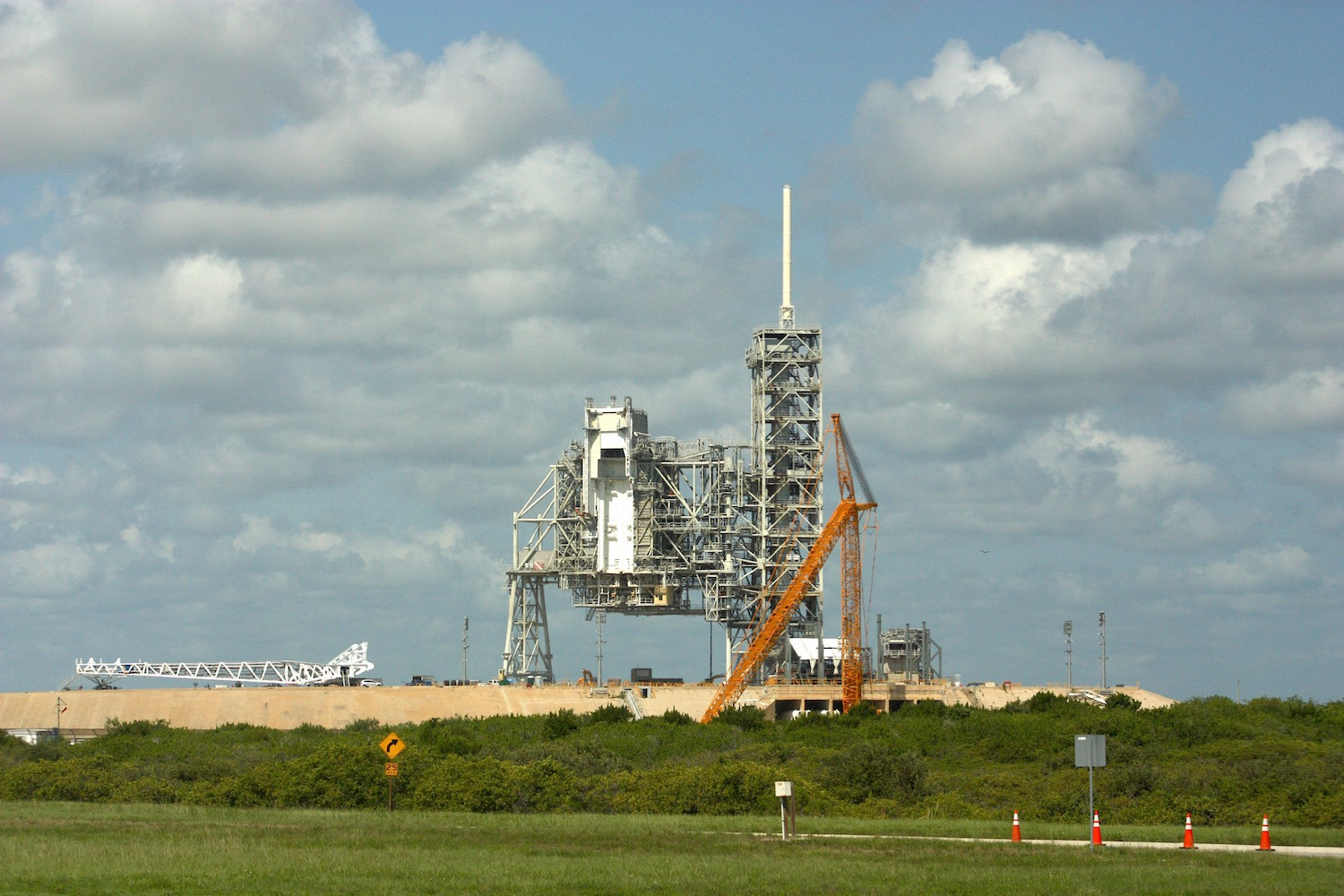 Launch pad 39A on Wednesday. Credit: Stephen Clark/Spaceflight Now