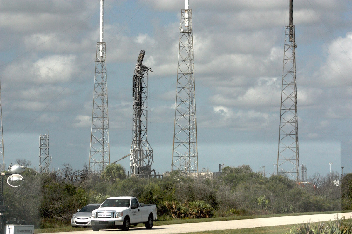 Launch pad 40 on Wednesday. Credit: Stephen Clark/Spaceflight Now