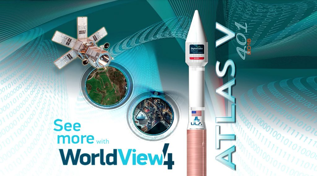 The WorldView 4 launch poster. Credit: ULA