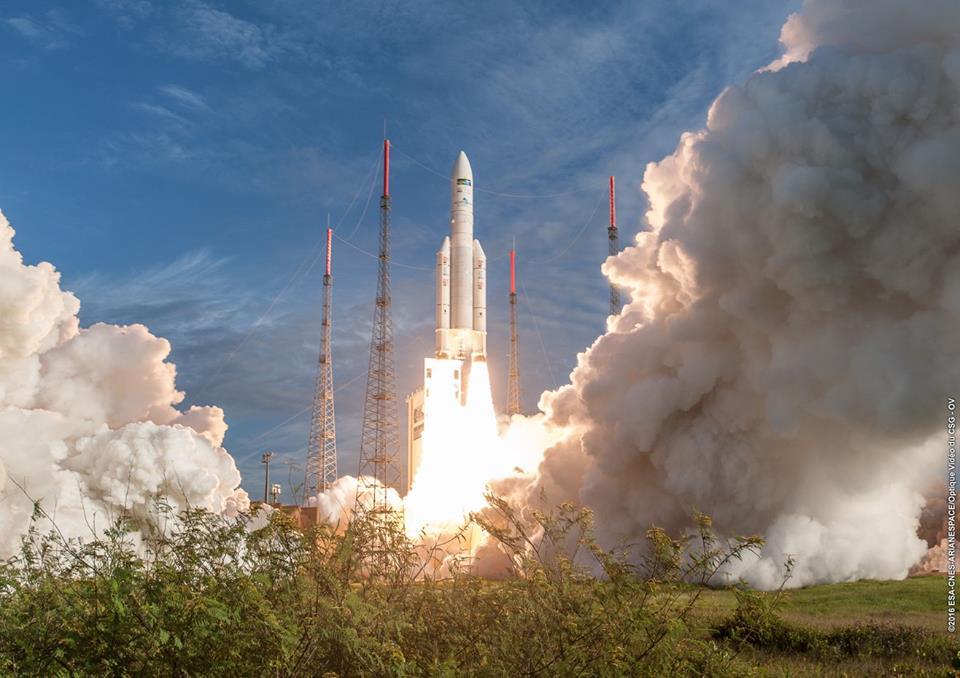 Photo credit: ESA/CNES/Arianespace – Photo Optique Video du CSG – OV