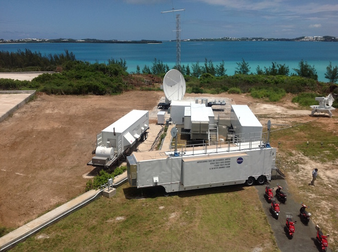 File photo of NASA's tracking station on Cooper's Island, Bermuda. Credit: NASA