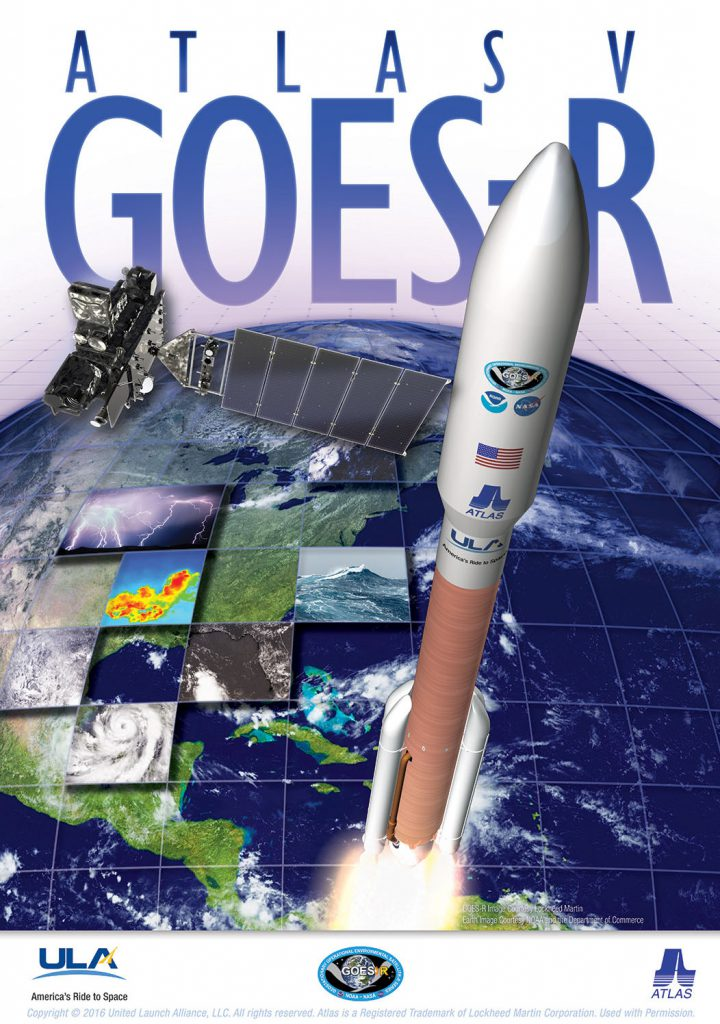 The GOES-R mission poster. Credit: United Launch Alliance