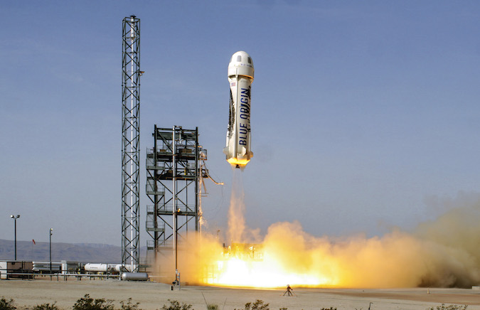 The last flight of the New Shepard booster occurred on June 19, 2016. Credit: Blue Origin