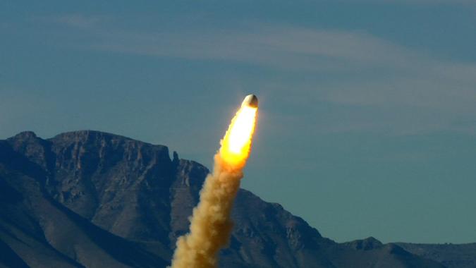 Blue Origin conducted a pad abort test in October 2012. Credit: Blue Origin