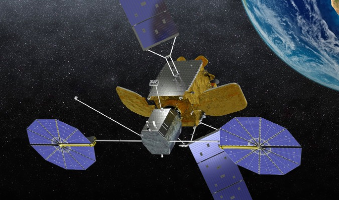 Artist's concept of Orbital ATK's Mission Extension Vehicle docked with a commercial communications satellite. Credit: Orbital ATK