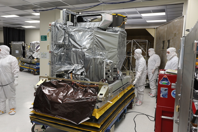 The Advanced Baseline Imager for GOES-R is pictured before its integration on the spacecraft. Credit: NOAA