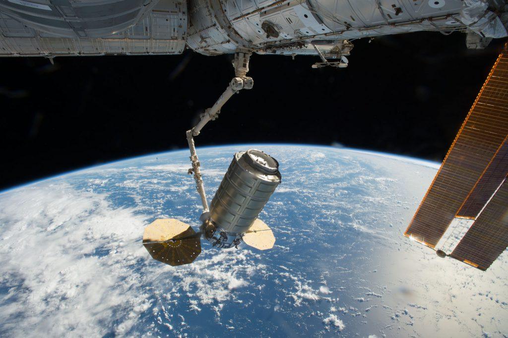 Cygnus at the space station. Credit: NASA