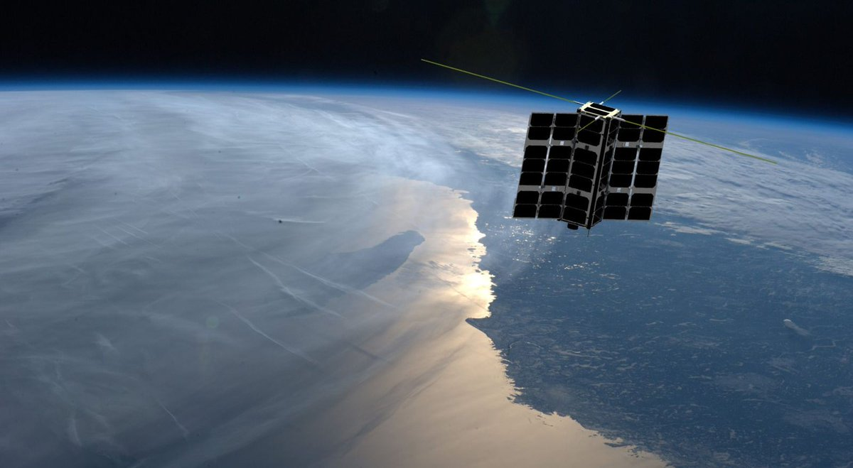 Artist's concept of a Spire Lemur 2 satellite in orbit. Credit: Spire