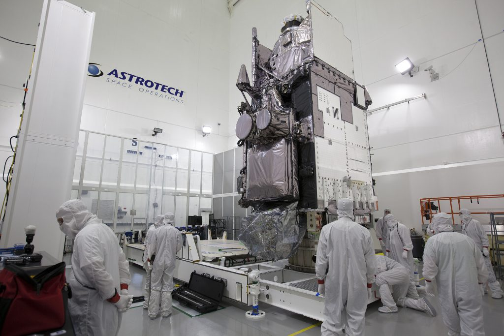 GOES-R in the cleanroom. Credit: NASA-KSC